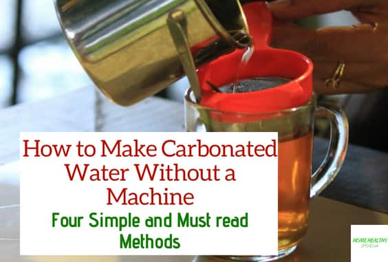 4 Easy Methods How to Carbonate Water Without a Machine