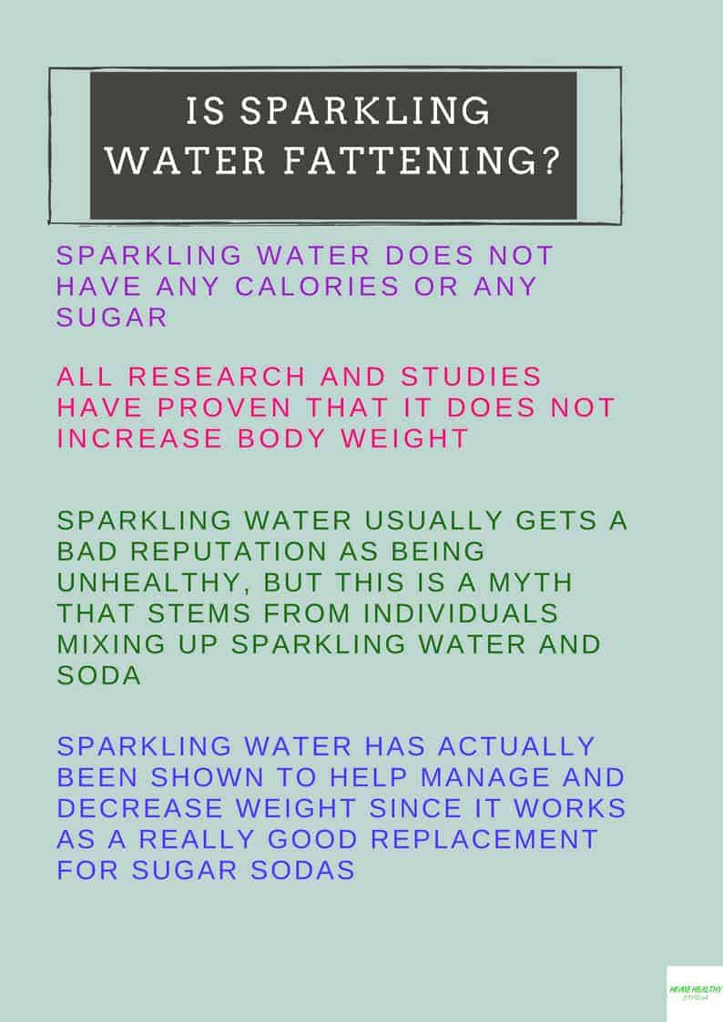 Is Sparkling Water Fattening