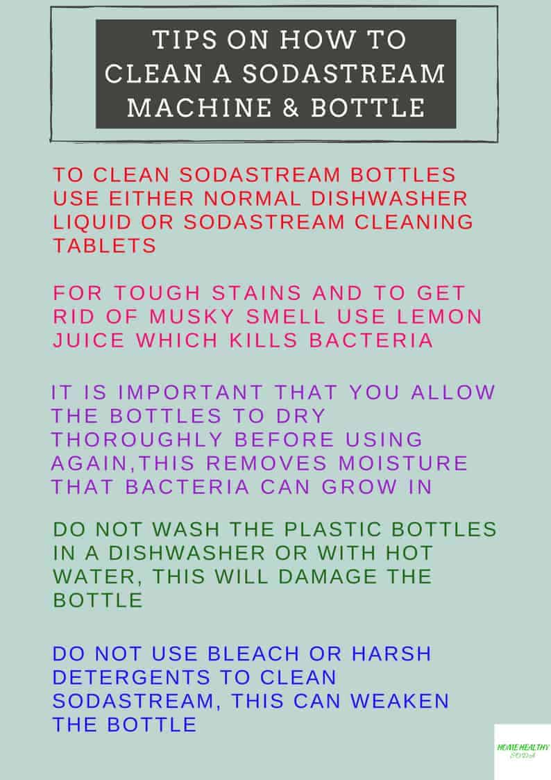 How to Clean a SodaStream Machine & Bottle